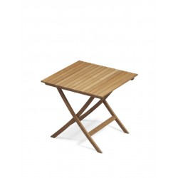 Table carrée pliable en teck - Marineshop