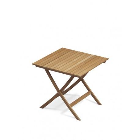 Table carrée pliable en teck - Marineshop