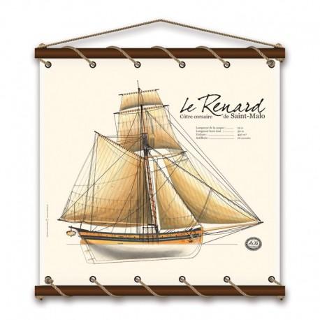 Le Renard - Aquarelle - Marineshop.biz
