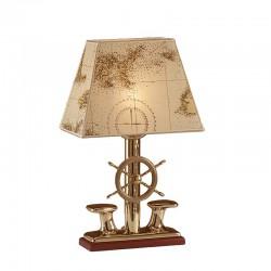 Lampe abat-jour sur pied barre à roue