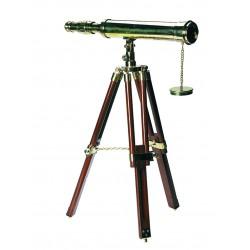 Télescope de décoration laiton