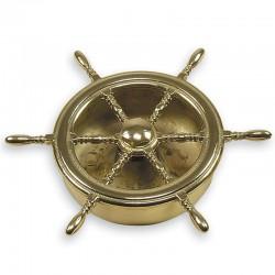 Cendrier barre à roue - laiton - Marineshop.biz