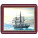 Set de 6 dessous de verres Grand Voiliers Explorateurs - Discovery, Scott - Marineshop.biz