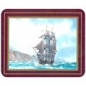 Set de 6 dessous de verres Grand Voiliers Explorateurs - Bounty, Bligh - Marineshop.biz