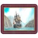 Set de 6 dessous de verres Grand Voiliers Explorateurs - Endeavour, Cook - Marineshop.biz