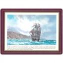 Set de 6 dessous de table Grand Voiliers Explorateurs - Bounty, Bligh - Marineshop.biz