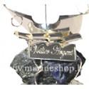 Echantillon Voilier argenté Home sur pierre minérale - 3312