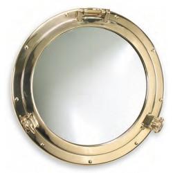 Miroir hublot ouvrant - Nemo - Laiton