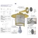 Lampe à suspension LA BAULE laiton