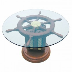 Table basse - Roue Marine et Poulie - Marineshop.biz