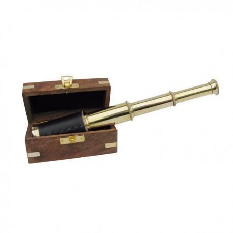 Téléscope avec boite en bois - Marineshop.biz