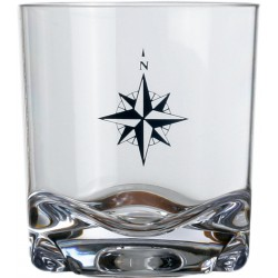 6 Verres à whiskey motif Rose des vents