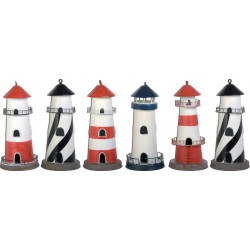 Set de 6 Mini Phares Decoratifs
