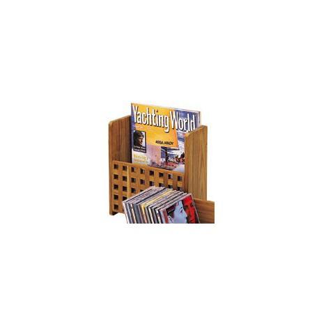Porte-revues en teck caillebotis - 3342