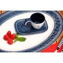 6 Tasses à café et sous-tasses motif Ancre