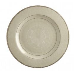 6 Assiettes plates rondes antidérapantes motif Points cardinaux