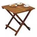Table de jardin rallonges en teck - 3353