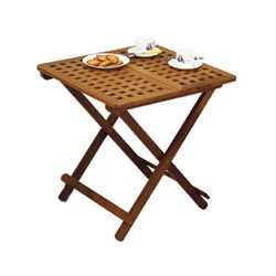Table de jardin rallonges en teck - 3353