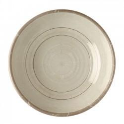 6 Assiettes creuses rondes motif Points cardinaux