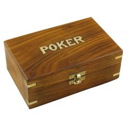 Malette à poker en bois 100 jetons