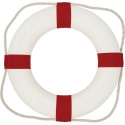 Bouée de Sauvetage Rouge/Blanc - dia 50cm