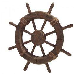 Ancienne roue de bateau rustique, 46cm
