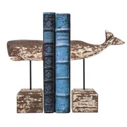 Serre Livre - Baleine en bois - Marineshop