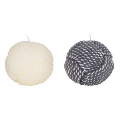 Set de 2 Bougies décoratives - Boule de cordage - Marineshop