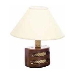 Lampe - Modèle Poulie - Bois vernis