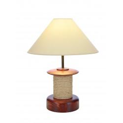 Lampe Cabestan - Bois vernis