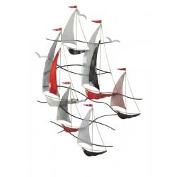REGATE 6 VOILIERS DRAPEAUX MATS - BEAUX-ARTS