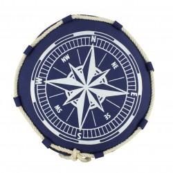 Coussin bleu motif ancre