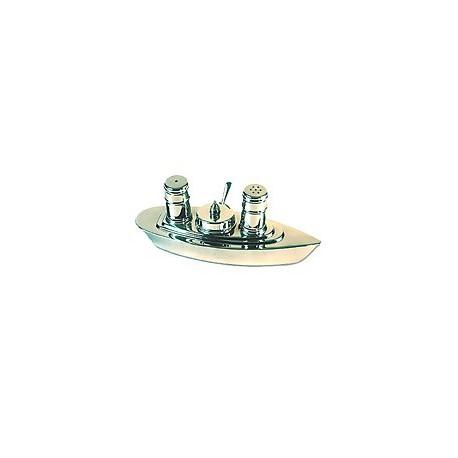 Set sel, poivre et moutardier paquebot - 3111