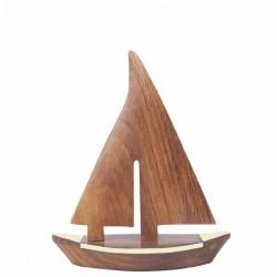 Deco - Voilier en bois - 23 x 27,5cm