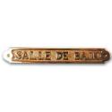 Plaque de porte - SALLE DE BAIN - Laiton