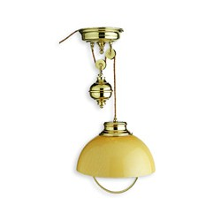 Suspension lustre SHELLY sur poulies - 9983B