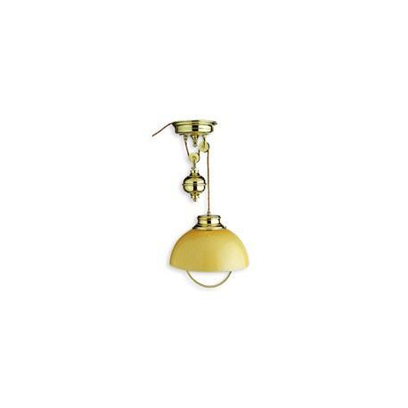Suspension lustre SHELLY sur poulies - 9983B