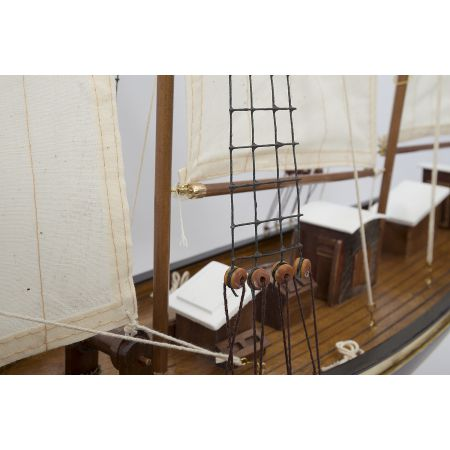 Maquette - Ketch 2 MATS - cordages voilier