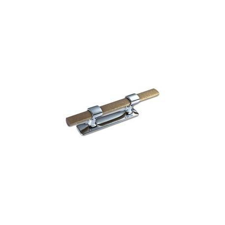 Taquet main courante en bois massif - 35A - 320 mm laiton