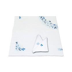 Nappe de table brodée en coton - 3510A 160X160cm