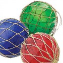Boule de Chalut verte rouge et bleue - set de 3 - 406A-B-C LOT DE 3 BOULES ASSORTIES 15 CM