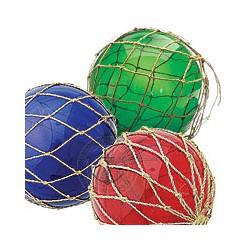 Boule de Chalut verte rouge et bleue - set de 3 - 406A-B-C LOT DE 3 BOULES ASSORTIES 15 CM