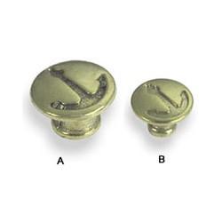 Bouton de tiroir ancre en laiton - lot de 6 - 7168 LOT DE 6