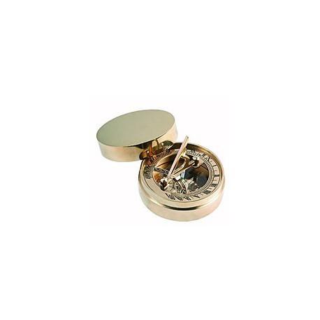 Boussole cadran solaire en laiton - 80126