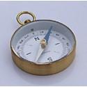 Echantillon Boussole fond blanc en laiton - 80151