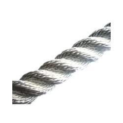 Bobine de cordage blanc cablé tressé - 8067A 10 mm