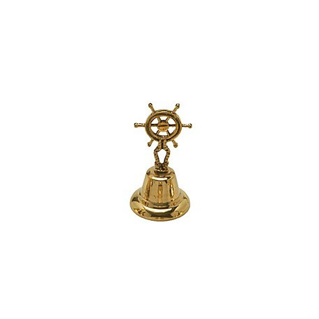 Cloche de table Barre à Roue laiton 13 cm - 90010