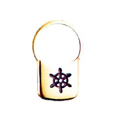Porte-clés cadenas barre à roue - les 4 - 1001 lot de 4