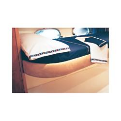 Drap de lit et taie d'oreiller CABIN ROOM - 1034A DRAP DESSUS + TAIE OREILLER BLEU NAVY PM