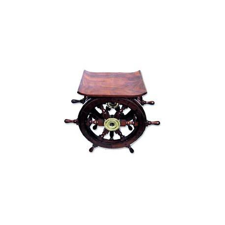 Tabouret barre à roue bois massif - 1076